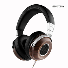 Купить с кэшбэком SIVGA SV004 Wooden Open Type HIFI Monitor Headphone 50mm Plated Beryllium Dynamic Headphones