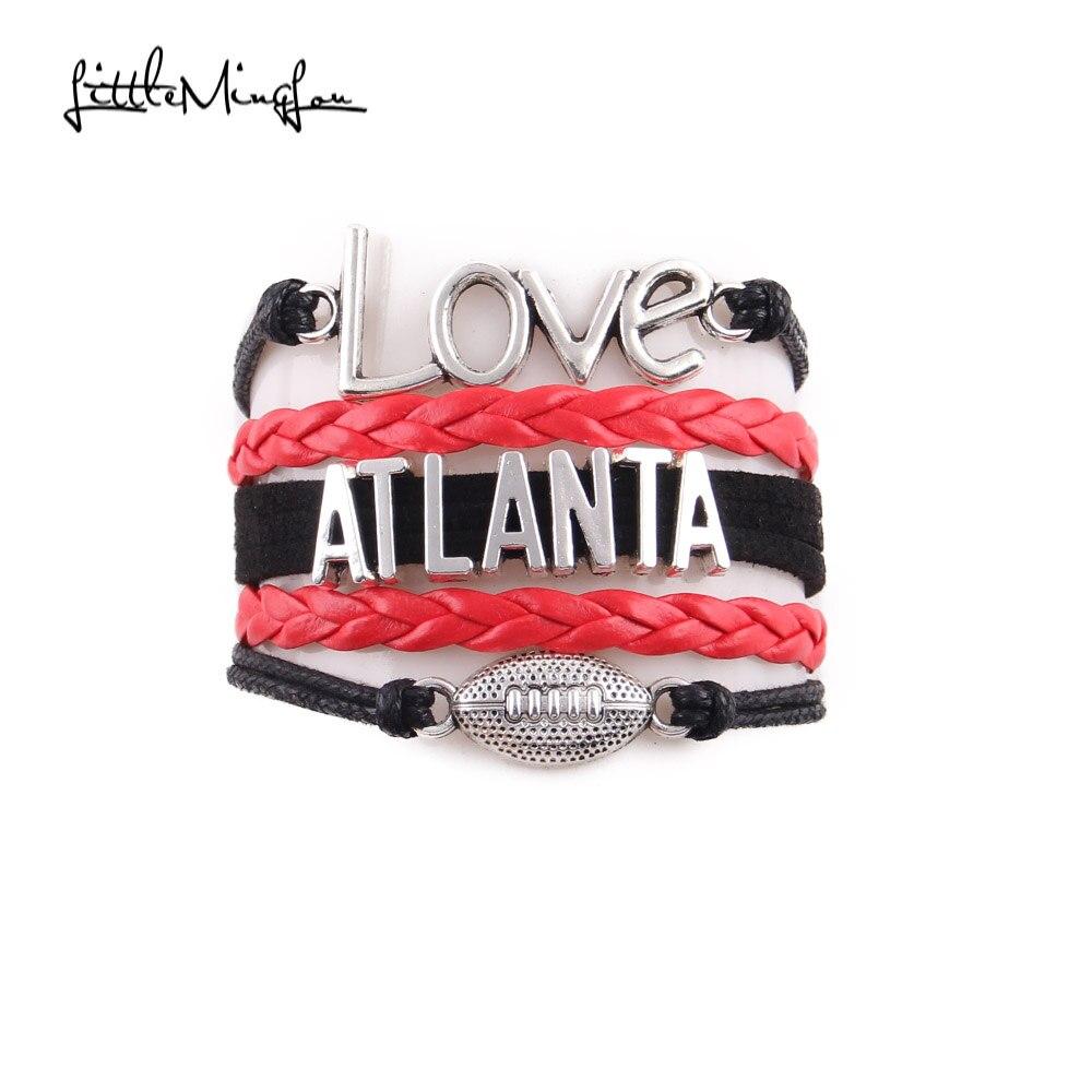 Brilliant Little Minglou Infinity Love Atlanta Bracelet Football Charm Funny Birthday Cards Online Necthendildamsfinfo