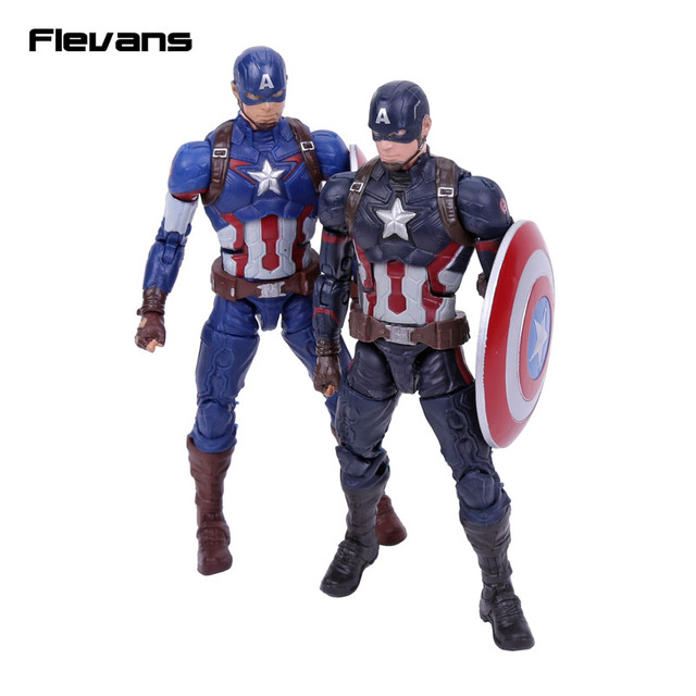original good quality captain america with shield pvc action figure