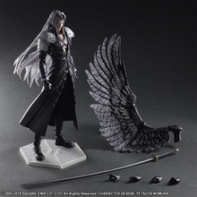 цены Play Arts Final Fantasy Figure Final Fantasy VII Sephiroth Figure PA Play Arts Kai Cloud Strife 27cm PVC Action Figure Doll Toys