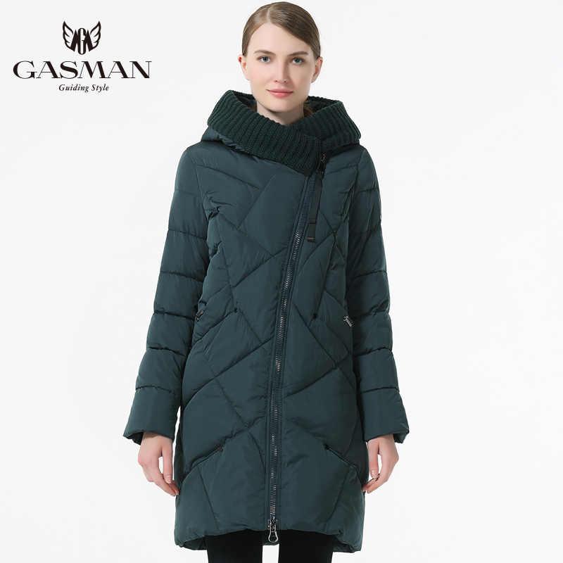 GASMAN femmes doudoune Parka flambant neuf 2018 à capuche pardessus pour femmes épaississement Bio bas Parka longue femme grande taille 5XL 6XL