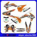 ORANGE 3M TEAM GRAPHICS  CUSTOMIZE BACKGROUND DECALS STICKERS KITS SET FOR KTM 2013-2014 2015 SX SXF 125 150 250 350 450