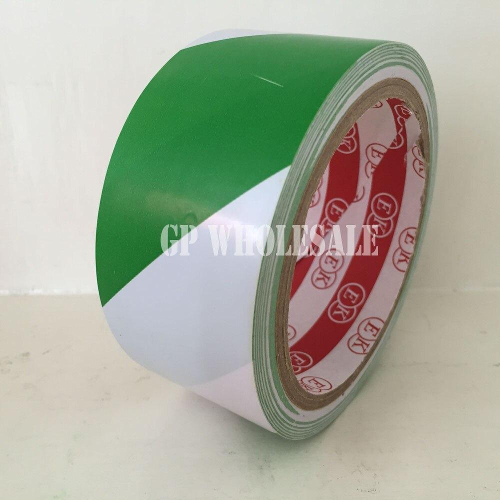 1x4,5 см* 18 м напольная предупреждающая клейкая лента/рабочая зона лента для предупреждения/наземный цветной скотч износостойкий зеленый/белый#61