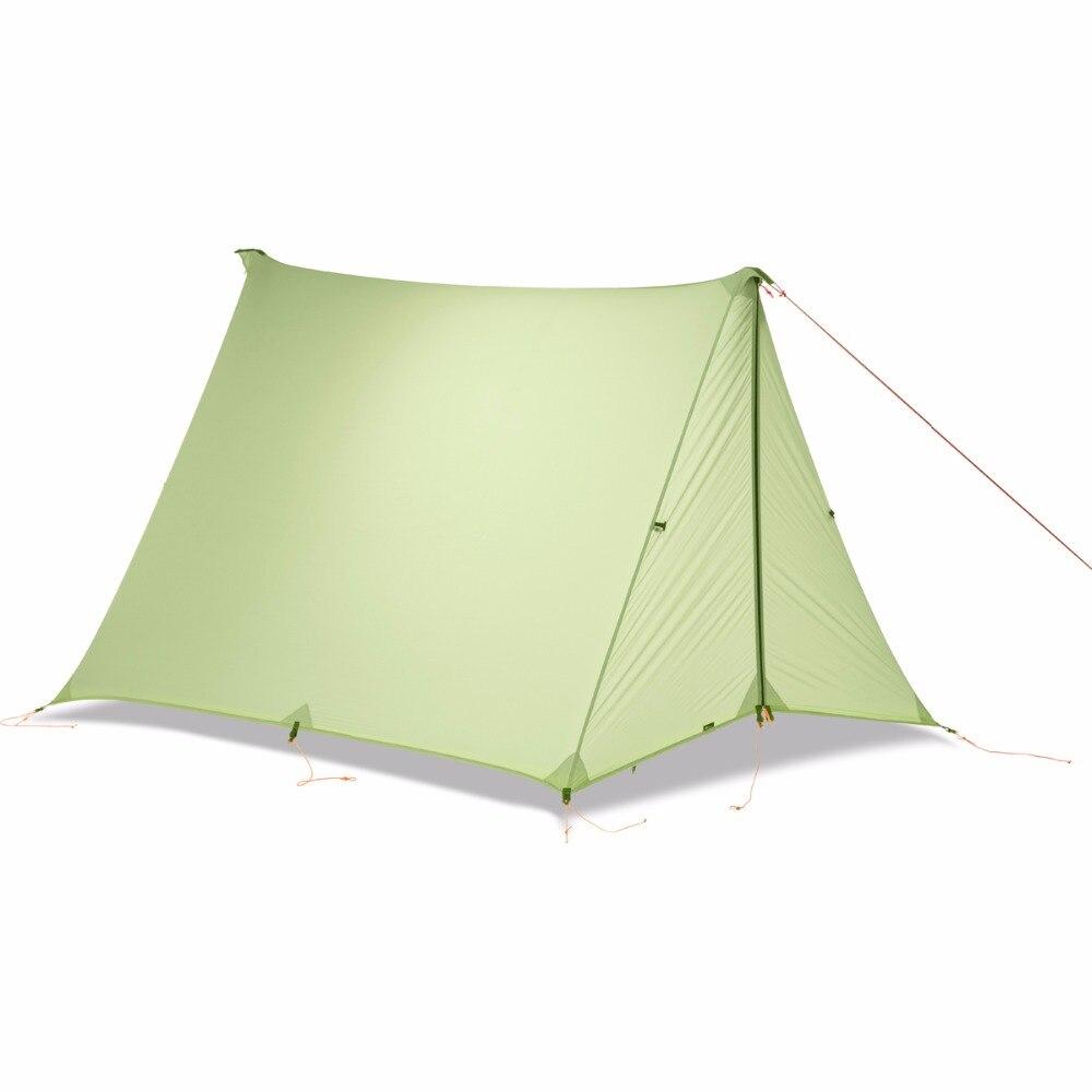 FLAME'S CREED 1-2 Persone Oudoor Ultralight Tenda Da Campeggio Singola Persona Professionale 20D Nylon Rivestimento In Silicone Senza Stelo Tenda