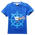 2017 Child Boy T-shirt Cotton Summer Short Sleeve Children Boys Cartoon Octonauts T Shirt Color Blue