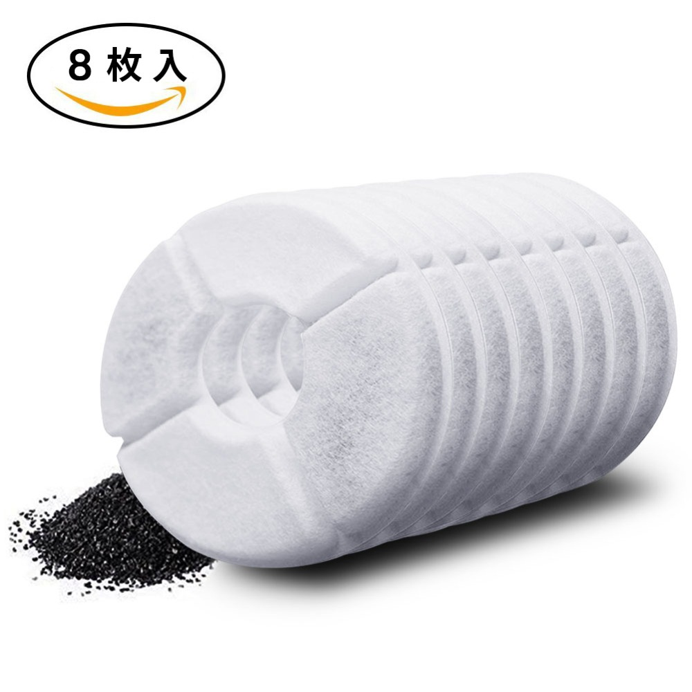 US $4 09 18% OFF|8pcs/lot Activated Carbon Filter For 1 8L LED Automatic  Water Drinking Fountain Cat Dog Kitten Pet Bowl Drink Dish Filter-in Cat