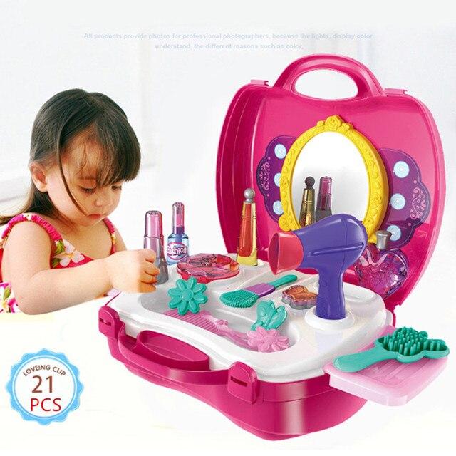 Dzieci Kosmetyki Dla Dziewczyny Dzieci Makijaż Playset Zestaw Udawaj