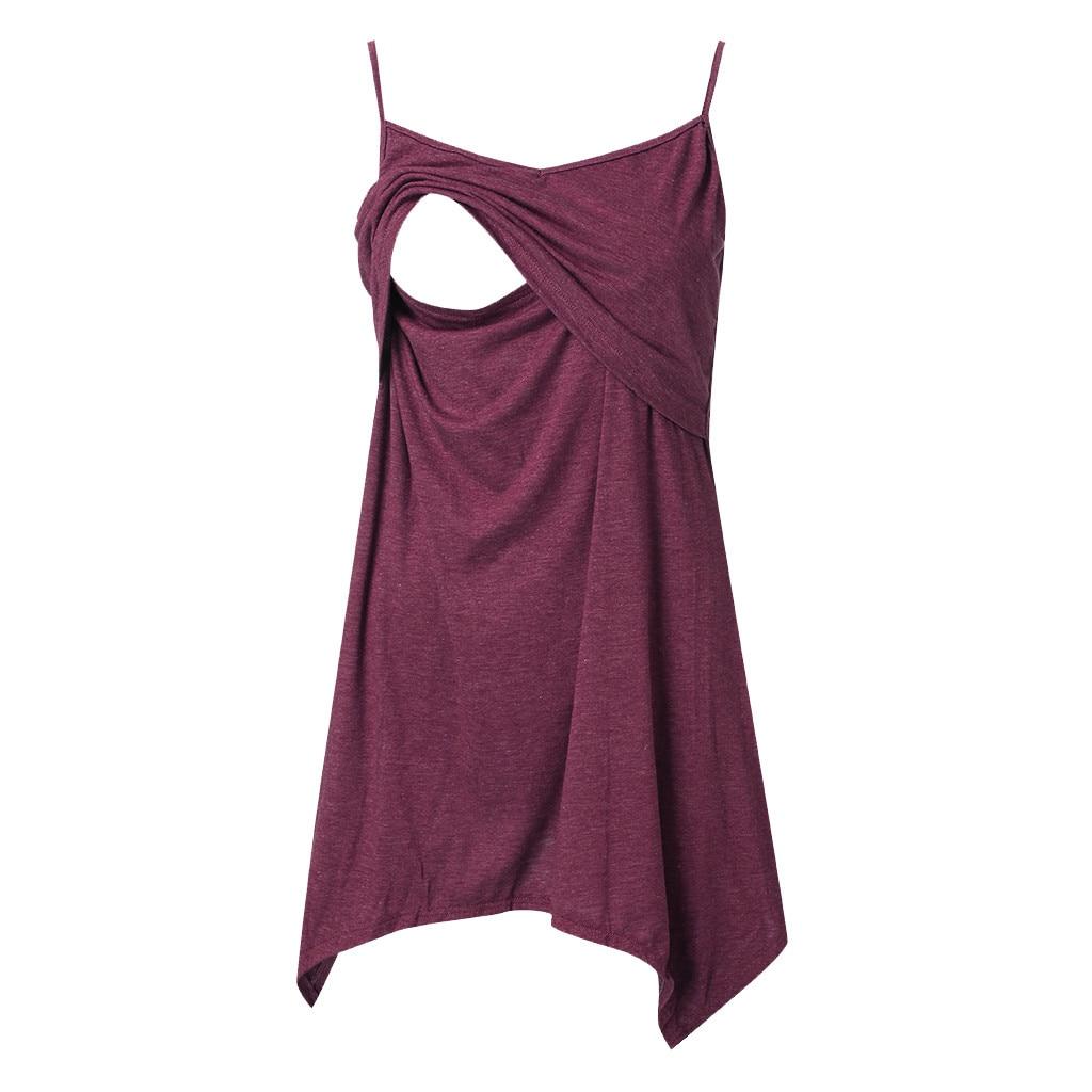 Maternity Clothes Women's Sleeveless Layered Nursing Tops Maternity Breastfeeding Tunic Lactancia Ropa Nursing Tank Tops Summer
