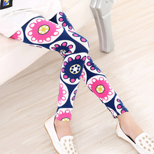 2016 Summer Baby Kids Childrens printing Flower Toddler Classic Leggings girls pants Girls legging 2-14Ybaby girl leggings