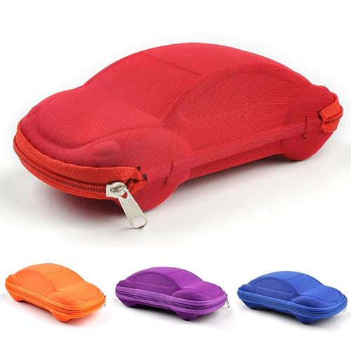 Kids Children Toddler Fashion Portable Car Shaped Sunglasses Glasses Carry Bag Hard Zipper Box Travel Pack Pouch Case
