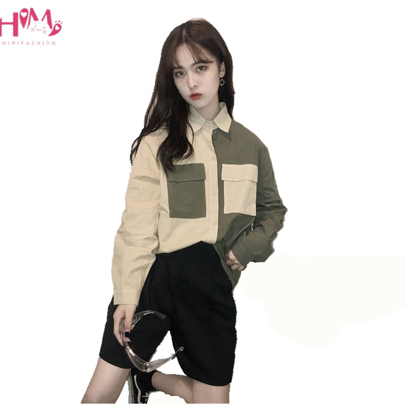 Harajuku Women Shirts Vintage Gothic Japanese Punk Style Street Long Sleeve Tops Korean Black Hip Hop Darkness Female Blouse At Any Cost Women's Clothing