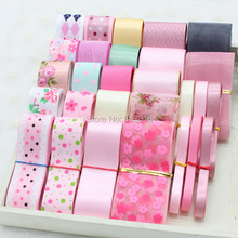 HOT 28meters Mixed Colors and Different Widths Sewing Tape Organza/Satin Ribbons grosgrain ribbon Ribbon Set DIY Bow handmade