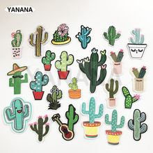 23 colors high-quality Cactus Mexican cactus flowers patch for clothes Iron on or Sew clothing DIY Badge