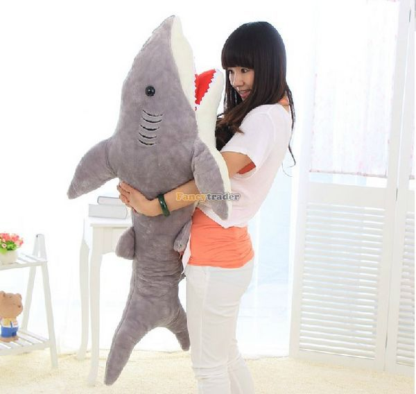 Fancytrader Good Selling! 51 / 130cm Huge Stuffed Soft Plush Funny Giant Shark Toy, Good Gift For Kids, Free Shipping FT50892Fancytrader Good Selling! 51 / 130cm Huge Stuffed Soft Plush Funny Giant Shark Toy, Good Gift For Kids, Free Shipping FT50892