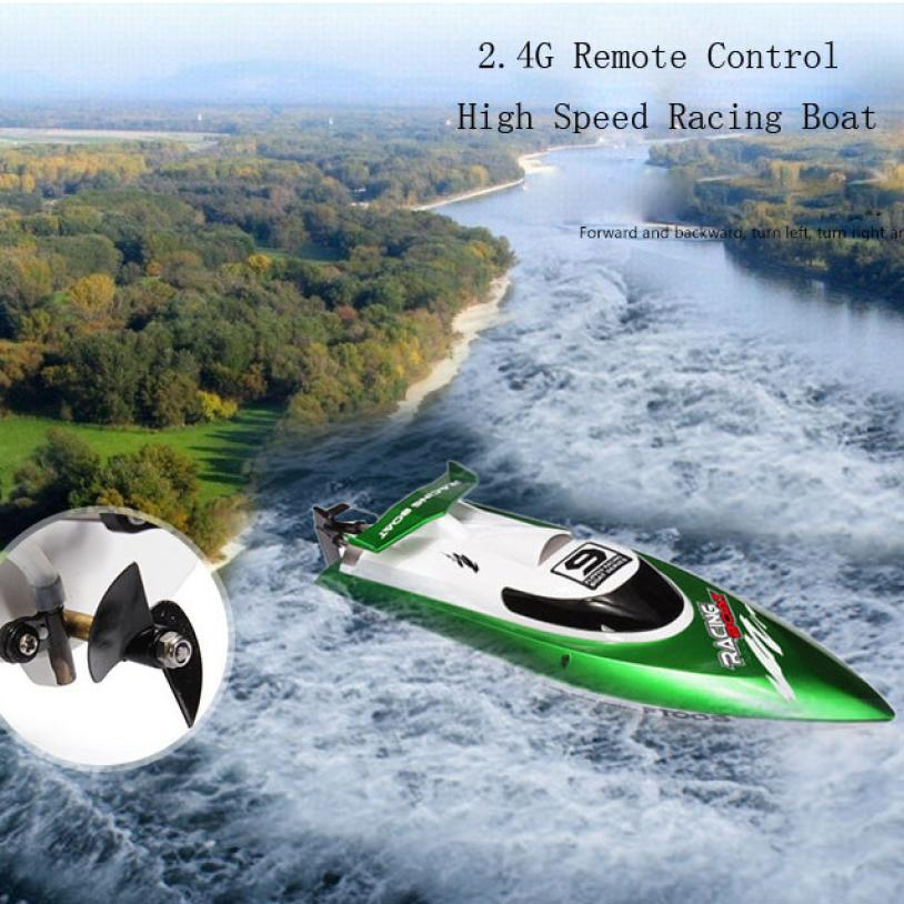 RC Boat Skytech H101 2.4G Remote Control 180 Flip High Speed Charger Electric RC Racing Boat  for kids gift t227 happy cow 777 218 remote control mini rc racing boat model