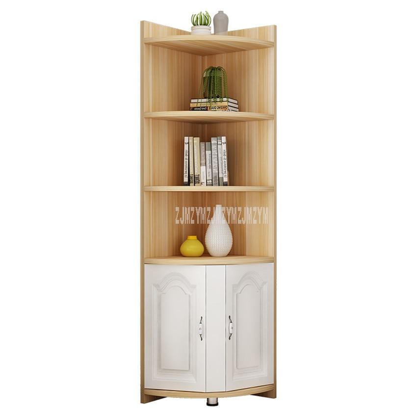 US $82.53 6% OFF|4 Tier Floor Corner Shelf Storage Cabinet Book Vase  Bookcase Rack Organizer Living Room Multi storey Corner Decorative  Bookshelf-in ...