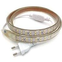 AC220V SMD 2835 led strip flexible light 5M/10M/15M/20M/50M/100M +Power Plug, Waterproof LED Strip Light Double Row 180LEDs/M