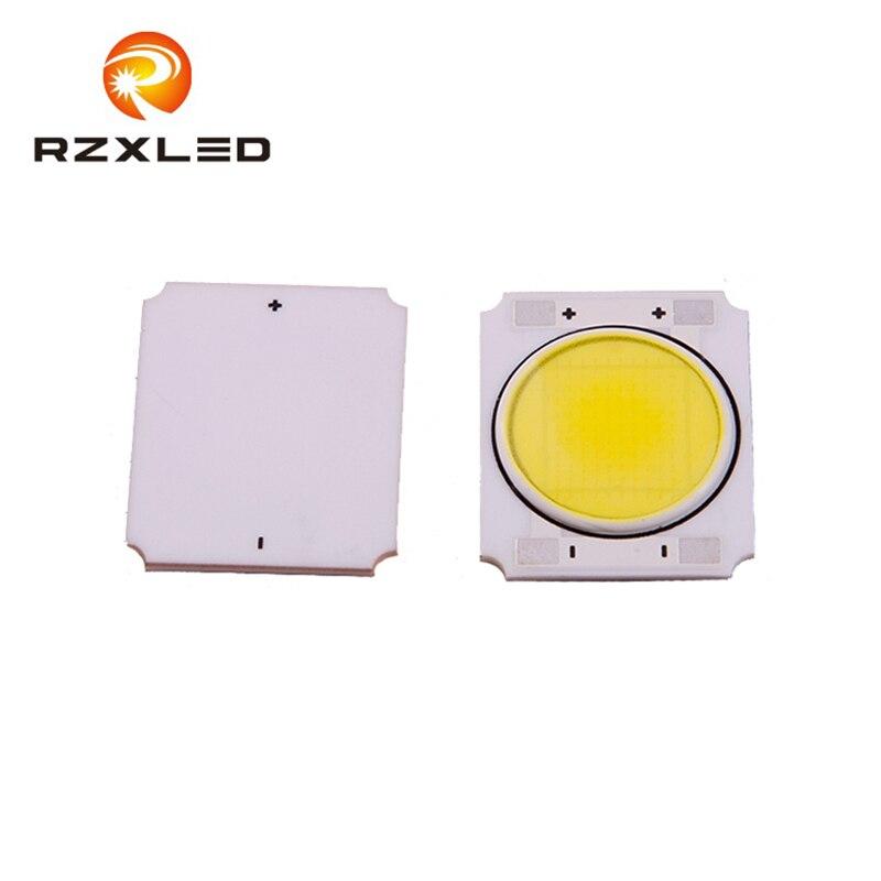 72PCS / LOT keramický substrát 10W bílá6000K COB LED 24V Licht Chip Emitting Diodde obdélník velikost: 22 * 19 * 1,5MM průměr průměr: 16mm