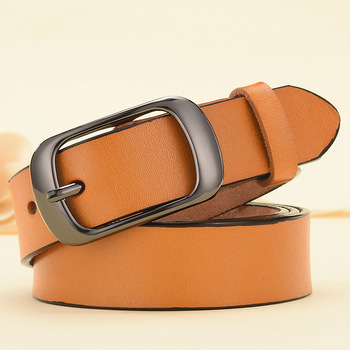 DINISITON New Women Genuine Leather Belt For Female Strap Casual All-match Ladies Adjustable Belts Designer High Quality Brand 8