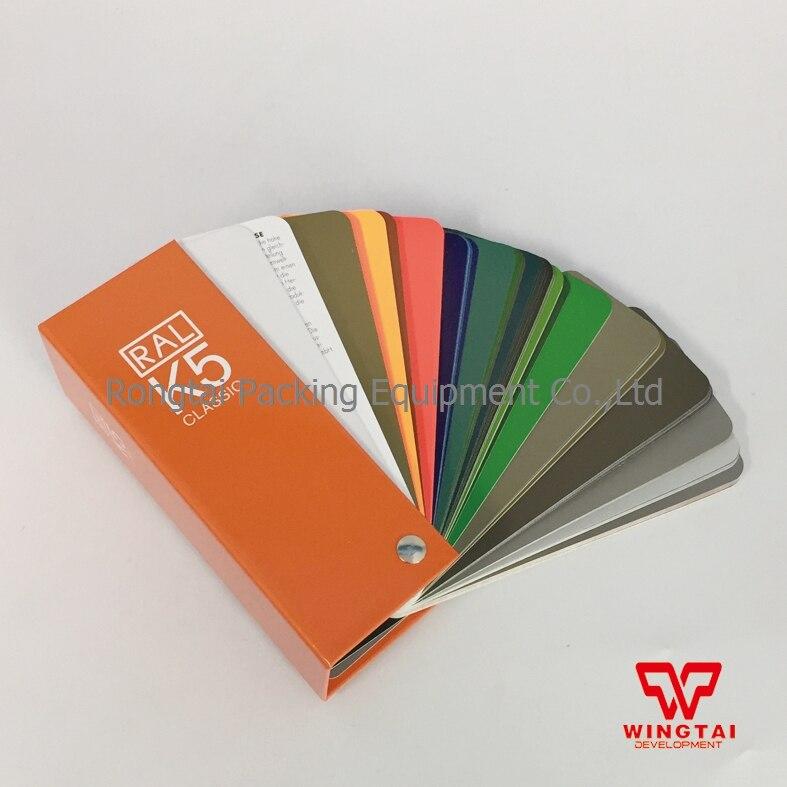 Оригинальный Германия Ral K5 Тенты карты для Краски 213 виды Цвета