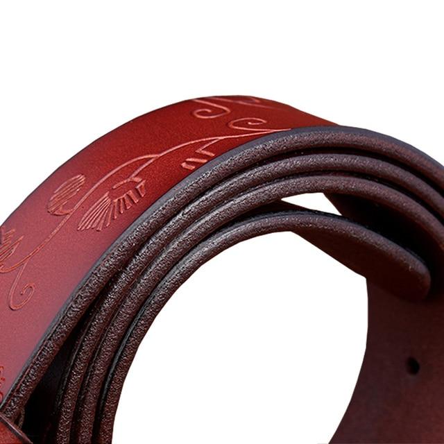 Floral Pattern Genuine leather Belt For Women