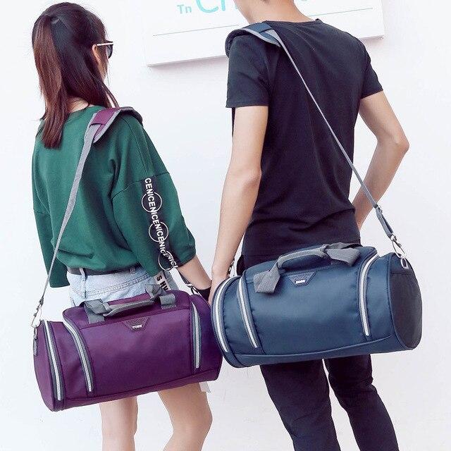 3a404ff984 New Men Travel Bag Duffle Folding Handbag Garment Bag High capacity Fashion  Cylinder Waterproof Sports Bag borsa da viaggio 2019