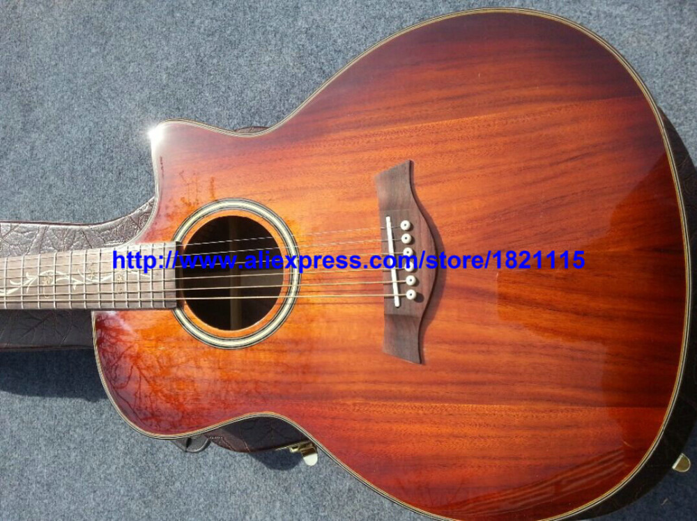 custom acoustic guitar koa series electric acoustic guitar with eq wholesale guitars from china. Black Bedroom Furniture Sets. Home Design Ideas