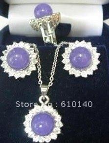3 шт. фиолетовый e кулон Цепочки и ожерелья серьги ring8 rrww6