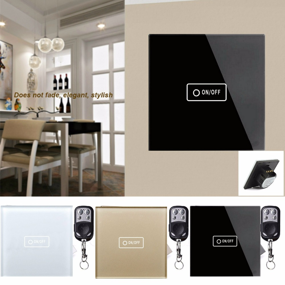 TLINK Touch Switch 1 Gang 1 Way Wireless Remote Control Light Switch LED Indicator For Smart Home Touch Switch Mini Remote smart home eu touch switch wireless remote control wall touch switch 3 gang 1 way white crystal glass panel waterproof power