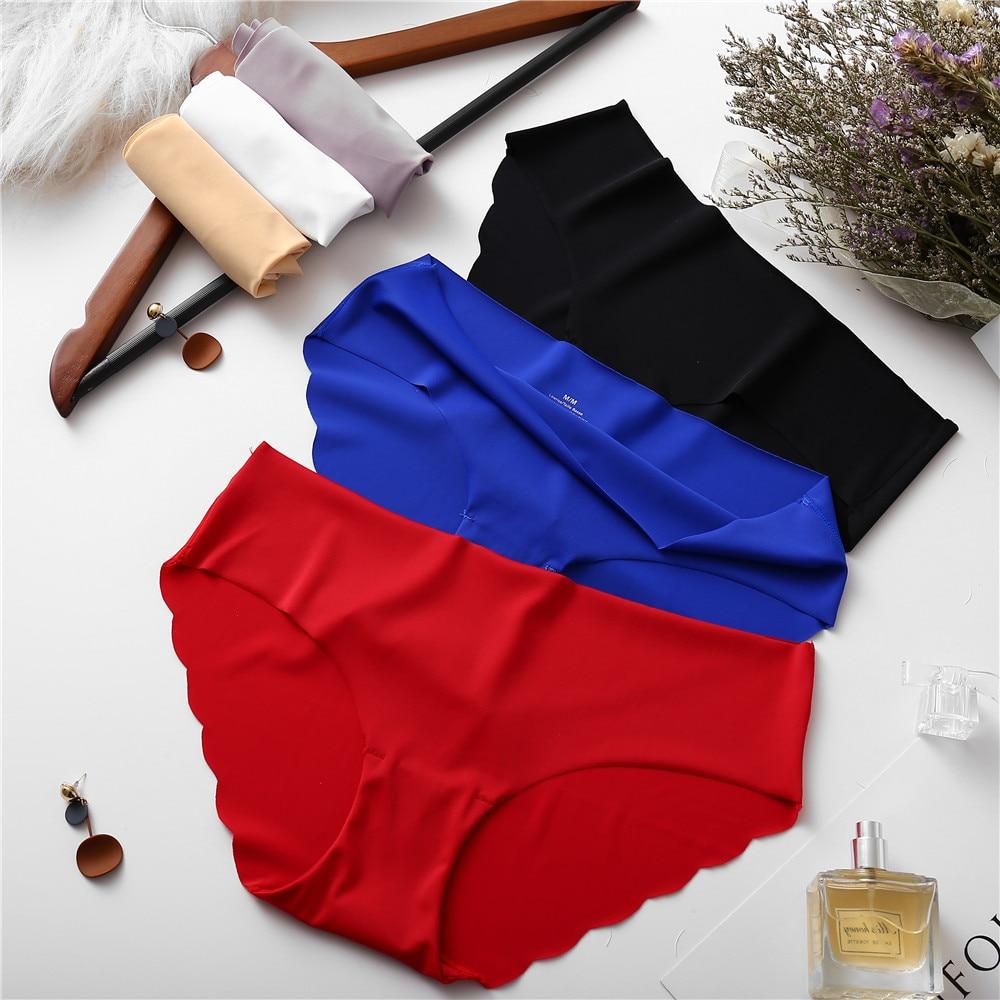 3 Pieces Multipack   Panties   Silk Feeling Mid-Rise Women Briefs Women's Sexy Underwear   Panties   Lingerie Seamless Briefs Casual