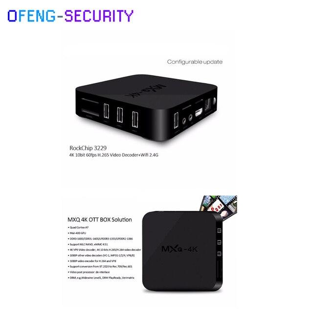 5pcs/lot MXQ-4K Smart tv converter RK3128 Quad-core set top box  kodi 1GB/2GB 8GB/16GB HD 1080P, Android 6.0