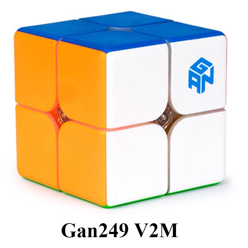 Original Gan249 V2 M 2x2x2 Speedcube Magnetic Magic Cube Gan Air Gan 249 V2 M Gan CubePuzzle Toys For Children alex lidow gan transistors for efficient power conversion