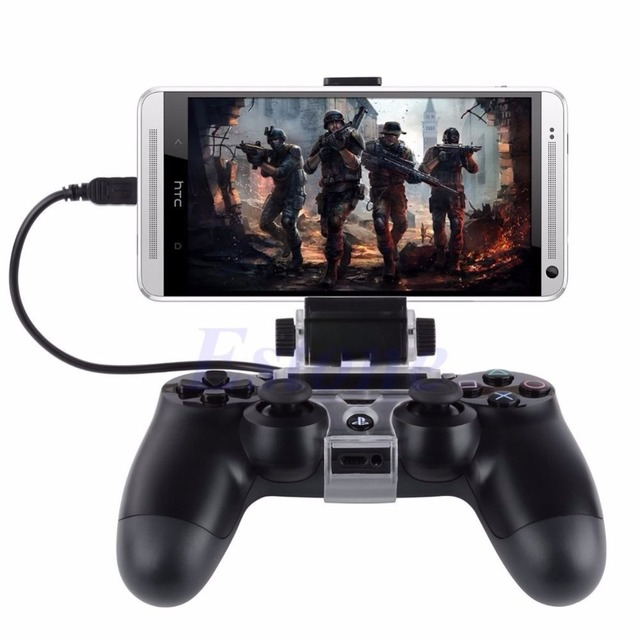 For PlayStation PS4 Game Controller Smart Mobile Phone Clip Clamp Mount Holder 2