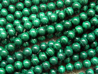 Free Shipping Natural Malachite Stone 10mm Round European Beads Min Order Is 15