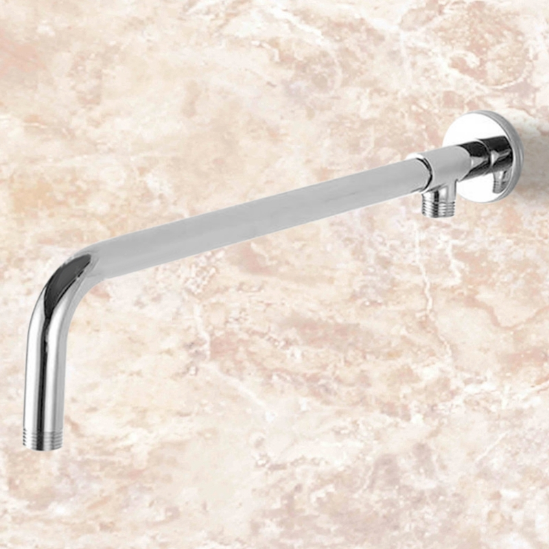 Copper Stainless Steel Shower Accessories Base Mounted Shower Elbow Fixed Rod W315