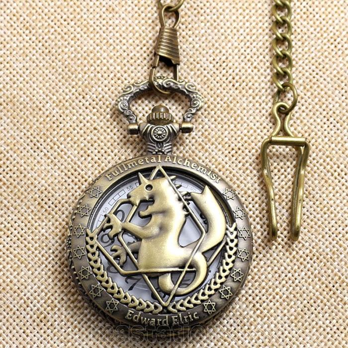 Hot Steampunk Fullmetal Alchemist Bronze Horse Clock Hollow Quartz - Zakhorloge - Foto 6