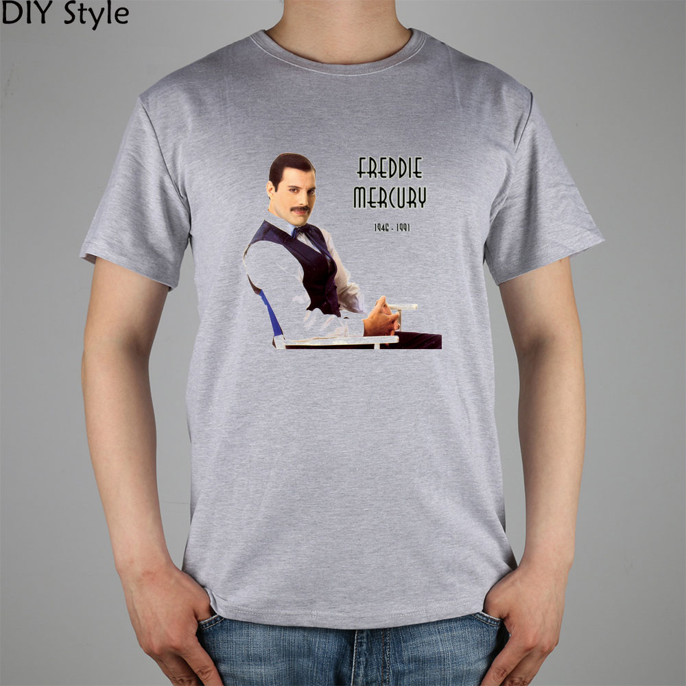 queen band mr freddie mercury t shirt cotton lycra top 3033 fashion brand t shirt men new diy. Black Bedroom Furniture Sets. Home Design Ideas
