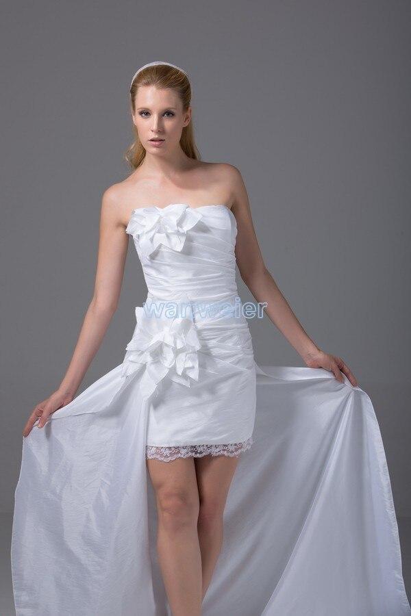 Livraison gratuite nouvelle mode formelle de soirée 2016 robes de bal robes de soirée pour femmes de taille plus blanc court avant robes de soirée