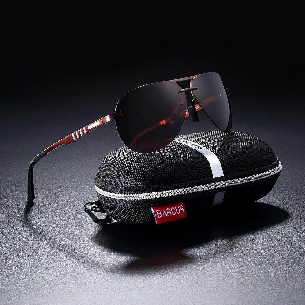 BARCUR Pilot Polarized Sun glasses Men Driving Sunglasses Brand Designer Sports Eyewear in Men 39 s Sunglasses from Apparel Accessories