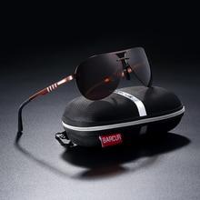 BARCUR Pilot Polarized Sun glasses Men Driving Sunglasses Brand Designer Sports Eyewear