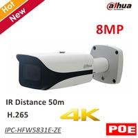 8MP Dahua POE IP Camera IPC HFW5831E ZE IR Bullet Network IP Camera H.265 Outdoor IP67 IR distance 50m 2.7 12mm motorized lens