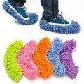 2 pçs/lote Todas As Cores Multifunções Casa Mops Limpas Sapatos Cobrir Limpar o Pó de Limpeza Pé Capa Frete Grátis