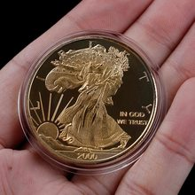 1 шт. календарь Майя крутой вид сувенирные монеты статуя Богиня Свободы Памятная коллекция монет подарок