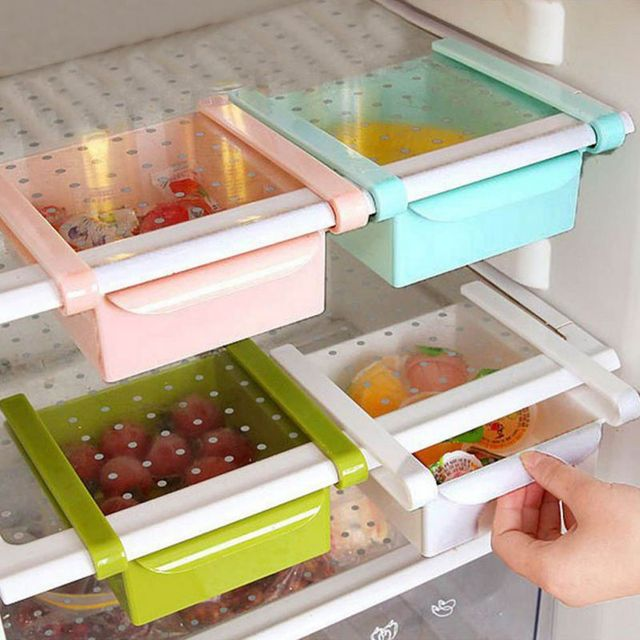 Refrigerator Storage Box Rake Freezer Food Storage Boxes Pantry Storage Organizer Bins Container Space-saving & Refrigerator Storage Box Rake Freezer Food Storage Boxes Pantry ...