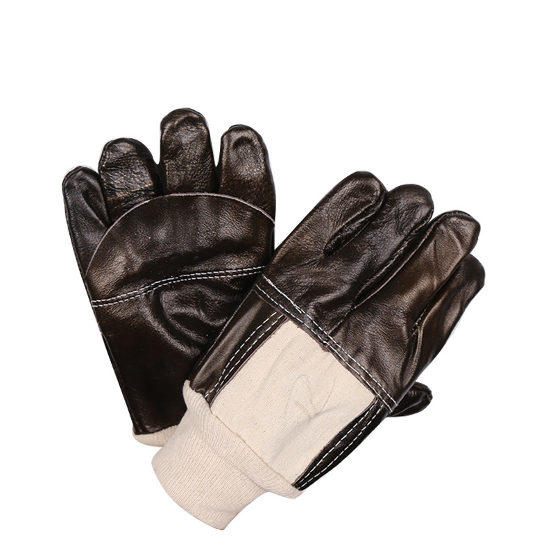 work gloves The first layer of leather gloves wear-resistant welders labor insurance  gloves luvas Free Shipping купить