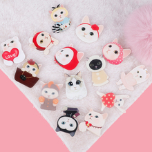 1pcs Super Cute Cat Shape Badges For Girls Kids Clothes&Bags&Shoes Decoration Pin On Backpack 3D Acrylic Badges Icon Pin Brooch