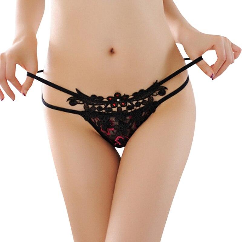 2017 Горячая Новая Женщин Сексуальный Кружевные Трусики Трусы Прозрачный Белье Комбенизоны Трусики V Строка стринги таньга Underwear bragas mujer