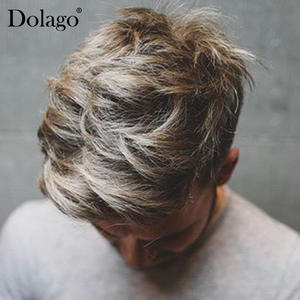 Dolago Hairpieces with Large Poly-Side And Back-Hair-Replacement-System Durable PU PU