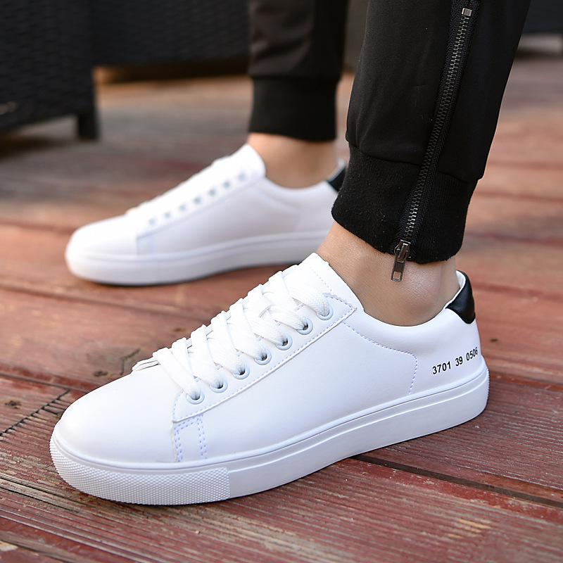 2018 Adulte Black Hommes Lumière Mode Appartements white Printemps Sneakers  red Respirant Solide automne Chaussures Homme ... 149a30728d4