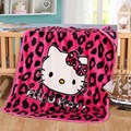 Hello Kitty Coral Fleece Fabric Blanket ,Home Textile on Bed Sofa Minions 100x140cm Blanket for Kids Baby  Sleeping As Gift